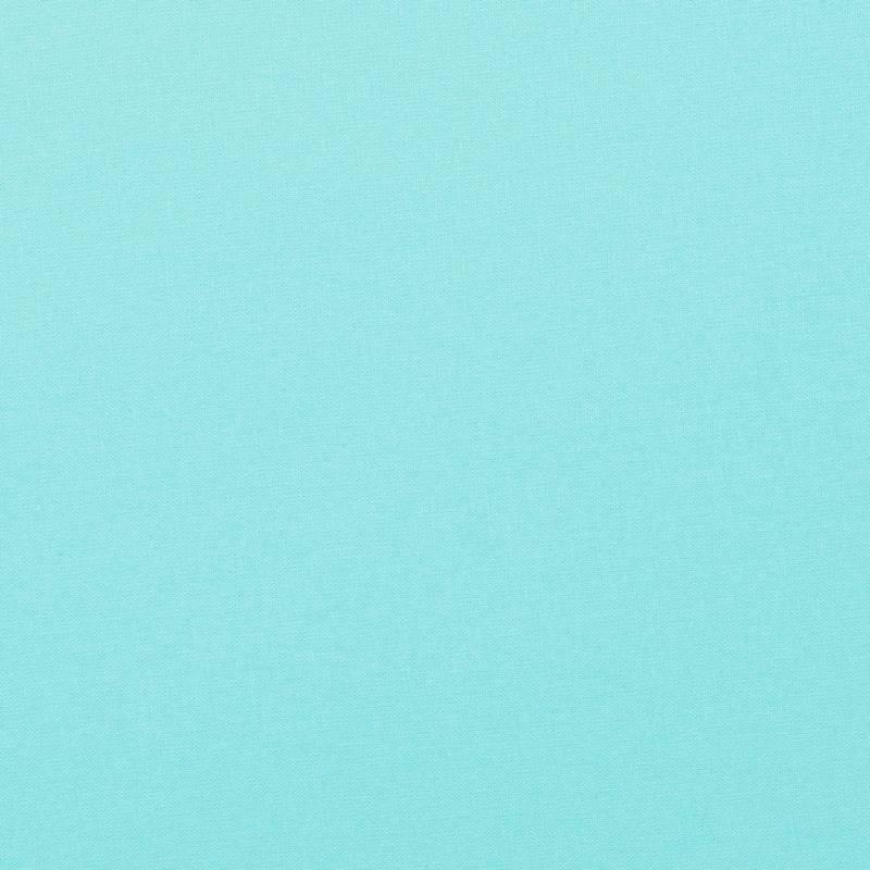 Coton uni bleu océan
