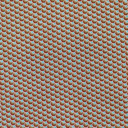 Coton rouge motif wax écaille