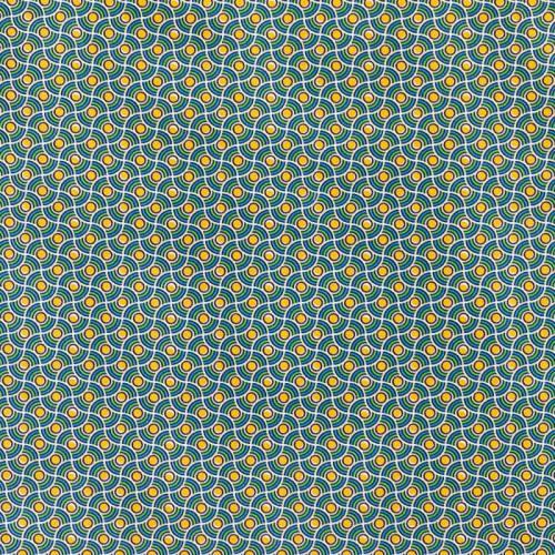 Coton vert motif wax perle