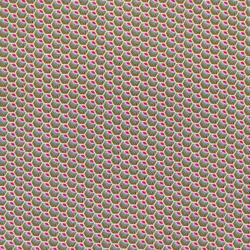 Coton fuchsia motif wax écaille