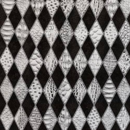 Simili cuir gris à relief anaconda ethnique