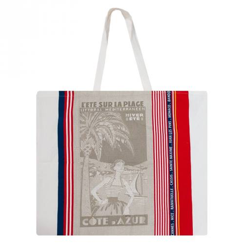 Grand tote bag Côte d'Azur