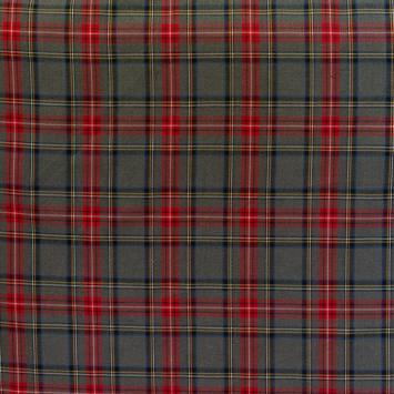 Tissu tartan gris, noir et rouge