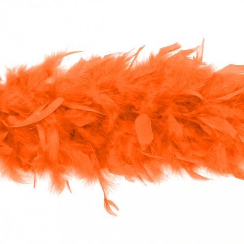 Écharpe Boa orange 2 mètres