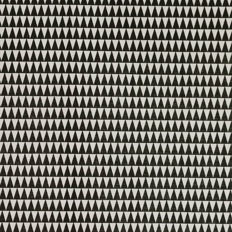 Coton vintage à motif triangle noir et blanc