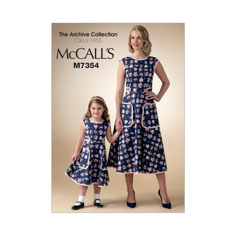 07fb4af680063 Patron Mc Call s M7354   Robe enfant taille   3-8 ans - Tissus Price