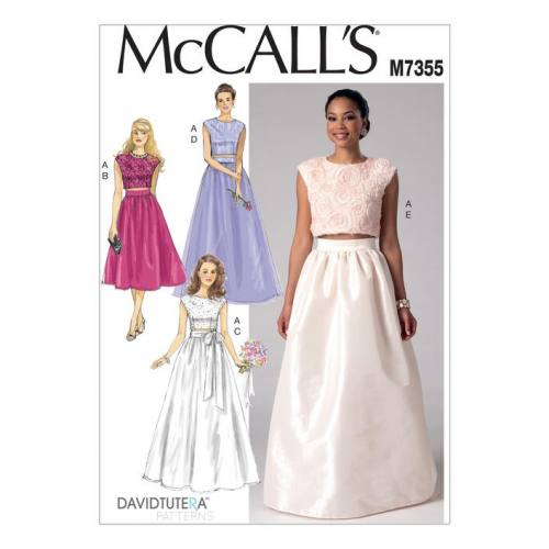 Patron Mc Call's M7355 : Hauts et jupes de mariée 34-42