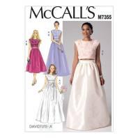 Patron Mc Call's M7355 : Hauts et jupes de mariée taille : 42-50