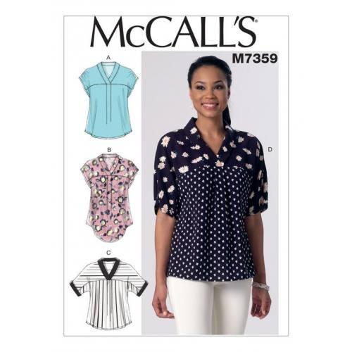 Patron Mc Call's M7359 : Hauts Taille : 44-52