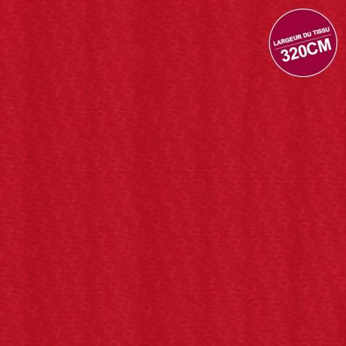 Coton percale rouge imprimé motif orange grande largeur