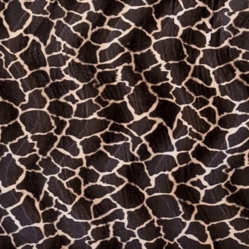 Fausse fourrure girafe marron foncée et beige