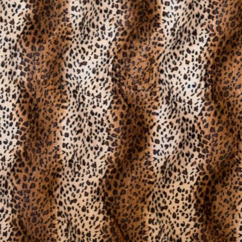 Fausse fourrure guépard taupe et crème