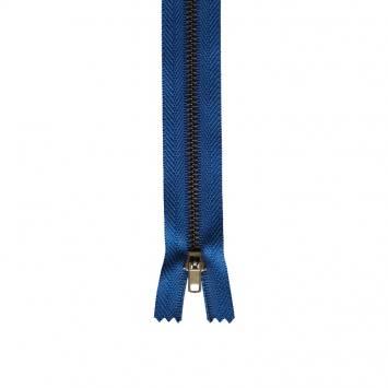 Fermeture pantalon 15 cm métal non séparable bleu Col 145