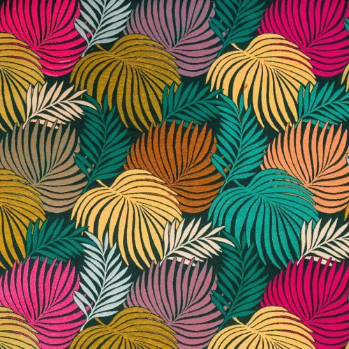 Jacquard imprimé tropical multicolore