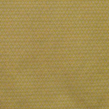 Jacquard doré à petit motif asanoha blanc