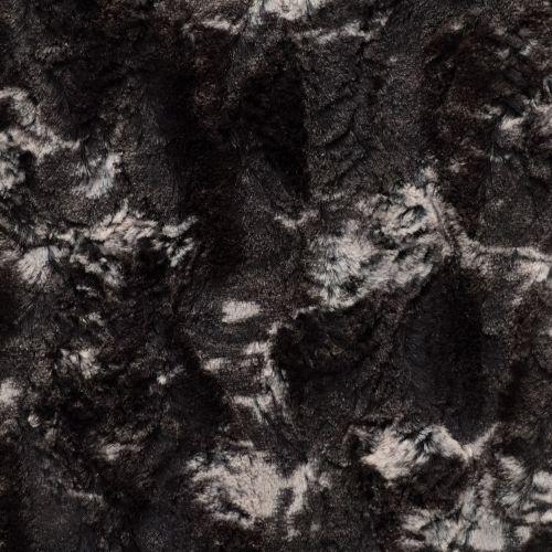 Fausse fourrure tie and dye noire et blanche