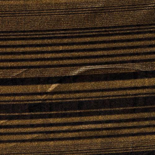 Velours noir à rayures dorées