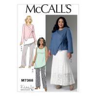 Patron Mc Call's M7368 : Veste, tunique, jupe et pantalon 44-52