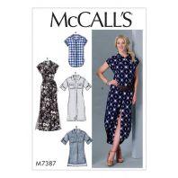 Patron Mc Call's M7387 : Haut, tunique, robe et ceinture 44-52