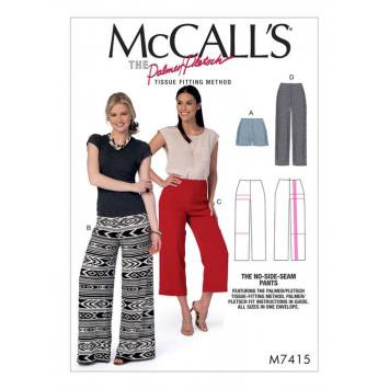 Patron Mc Call's M7415 : Short et pantalon 34-50