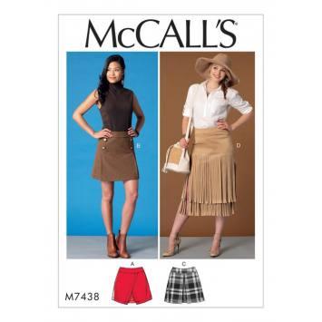 Patron Mc Call's M7438 : jupes pour jeune femme 34-42