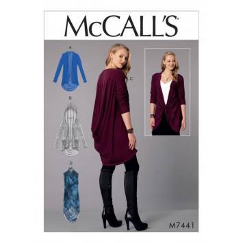 Patron Mc Call's M7440 : vestes et gilet pour jeune femme 34-42