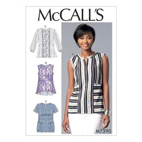 Patron Mc Call's M7390 : Hauts pour femme 42-50