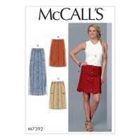 Patron Mc Call's M7392 : Jupes pour jeune femme 42-50