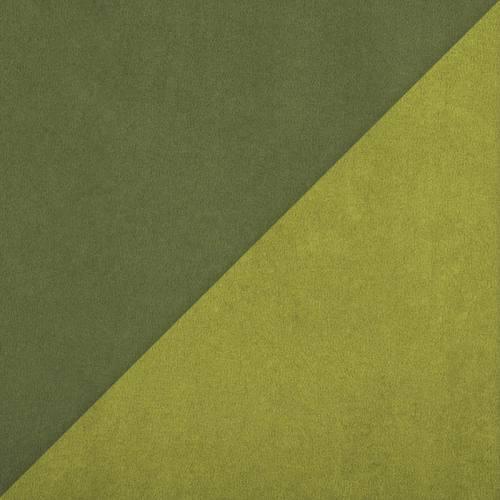 Suédine réversible vert pomme et kaki