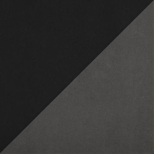 Suédine réversible gris et noir