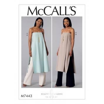 Patron Mc Call's M7443 : Tunique et pantalon pour jeune femme 34-42