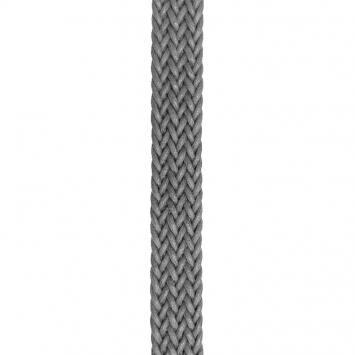 Sangle tréssé gris aspect cuir 23 mm
