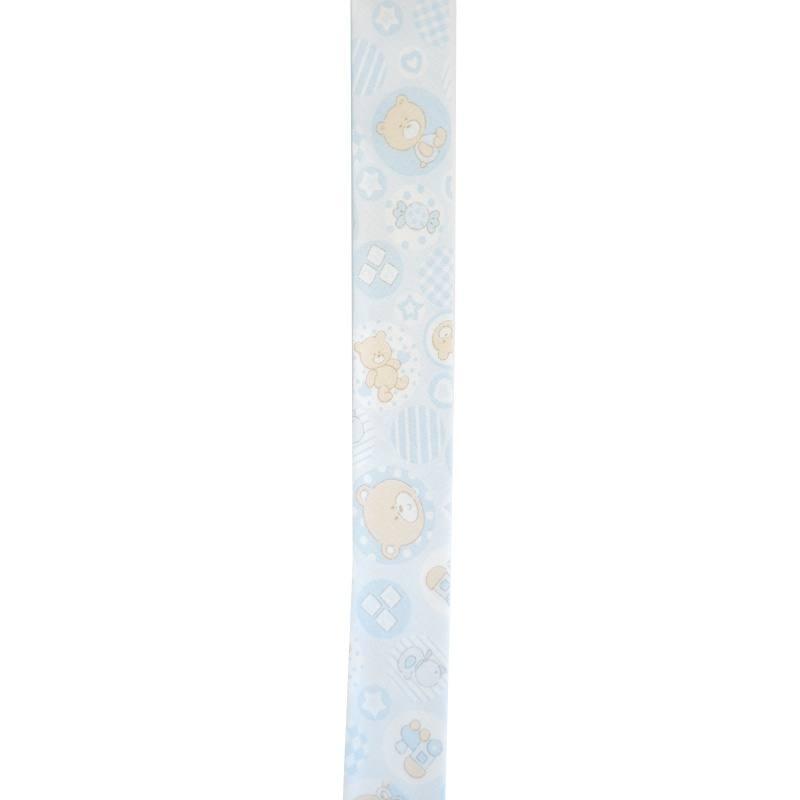 Biais ourson bleu 25mm