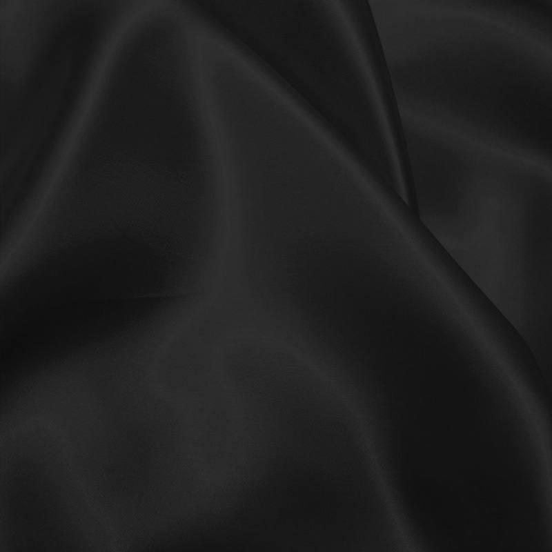 Satin uni noir 110cm