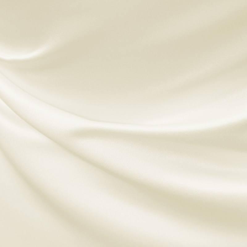 Satin duchesse ivoire foncé