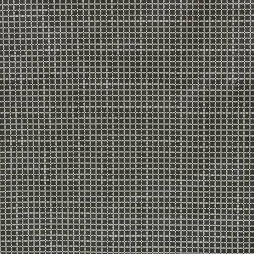 Toile polycoton noire imprimée cercles argentés
