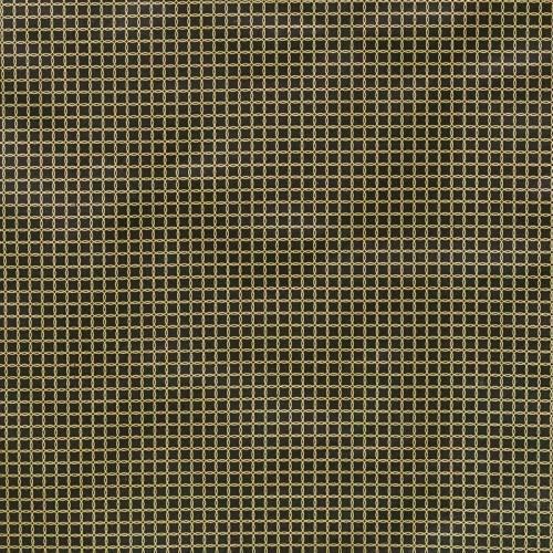 Toile polycoton noir imprimée cercles dorés