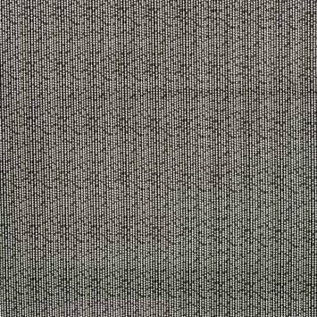 Toile polycoton noire imprimée frise argentée et blanche