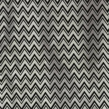 Jacquard zig zag argenté et noir