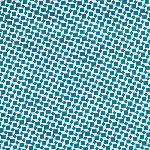 Simili cuir imprimé carré bleu pétrole