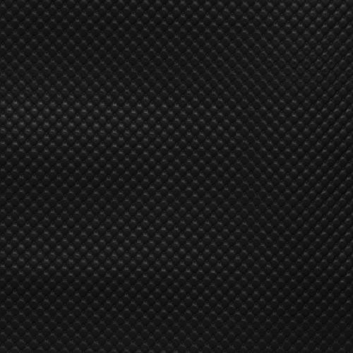Simili cuir noir à capitons