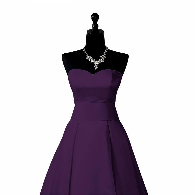 Satin duchesse violet