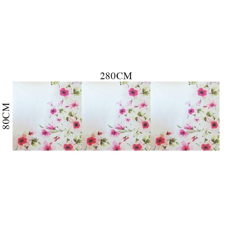 coupon 80x280 coton percale blanc motif fleur rose pas cher tissus price. Black Bedroom Furniture Sets. Home Design Ideas