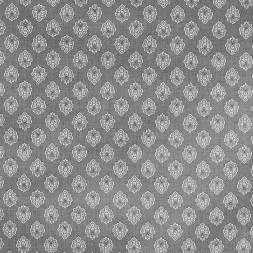 Tissu provençal gris clair motif petit calisson blanc