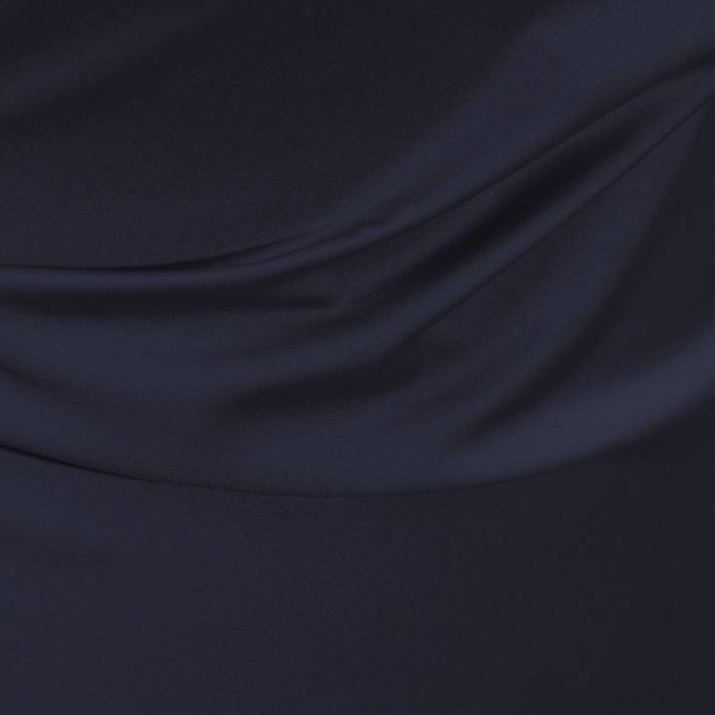 Satin microfibres royal bleu nuit