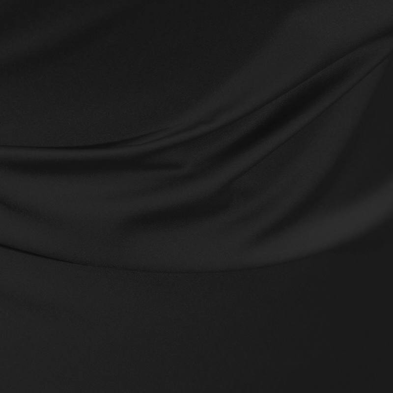 Satin microfibres royal noir