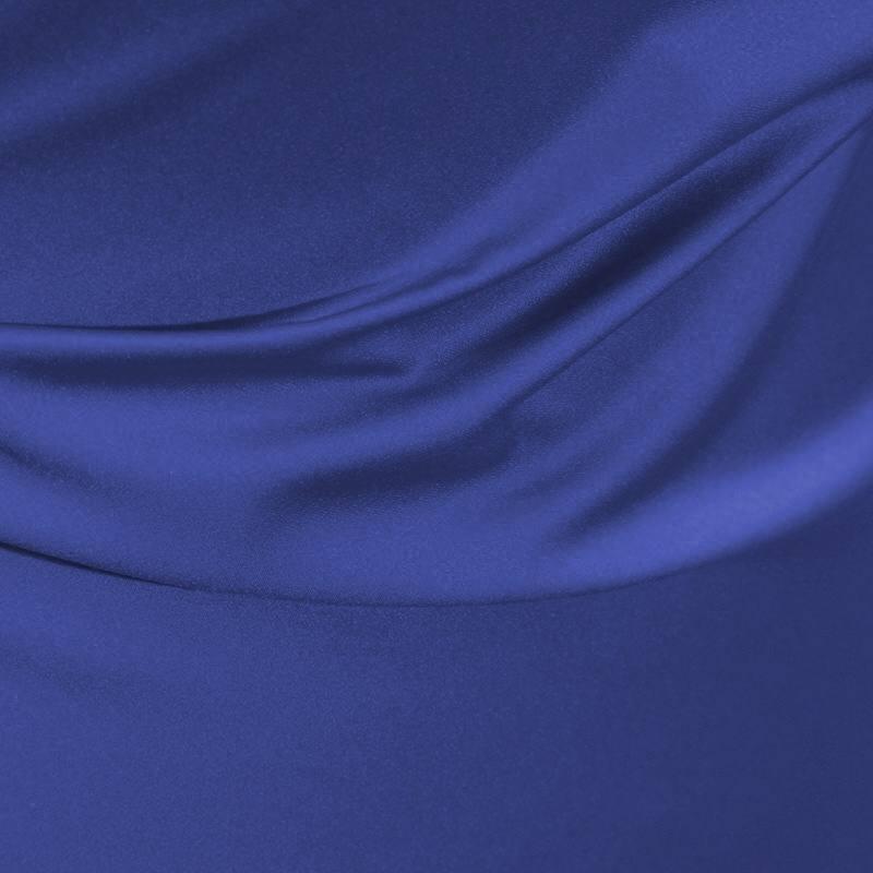 Satin microfibres royal bleu roi