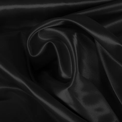 Satin extensible noir