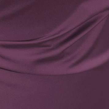 Satin microfibre royal prune