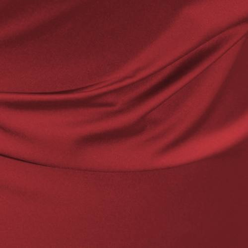 Satin microfibre royal rouge carmin